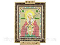 Схема для вышивки бисером на габардине B-10 «Пресвятая Богородица Вспоможительница в родах»