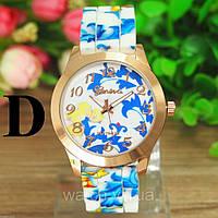 Женские силиконовые часы (женева) Geneva цветочные