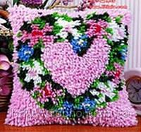 Ковроплетение, подушка своими руками, подушка Цветочное сердце