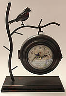 """Часы настольные """"Нежность"""" из металла с двухсторонним циферблатом."""