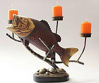 "Подсвечник на 3 свечи ""Рыба"""