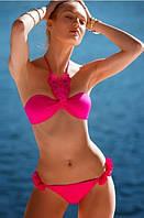 Малиновый и черный купальник от Victoria`s Secret с пуш-ап