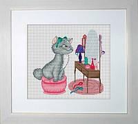"""Набор для вышивки крестом """"Кити (кошечка у туалетного столика)"""""""