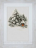 """Набор для вышивки крестом """"Зимний пейзаж"""""""