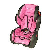 Автокресло BabySafe Sport VIP - pink,гр. 1-2-3,(9мес-12лет)