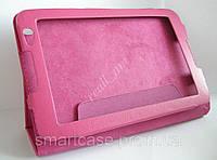 Розовый оригинальный кожаный чехол-книжка Folio Case для планшета Lenovo IdeaTab A5500