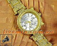 Женские наручные часы Michael Kors Gold White Dimond японский механизм качественные