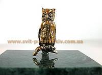 Памятный сувенир, бронзовая фигурка Сова символ мудрости