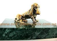 Бронзовая фигурка Собака, памятный сувенир