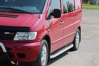 Mercedes Vito W638 Порог площадка (алюминиевый обвес, 2 шт) Alliance