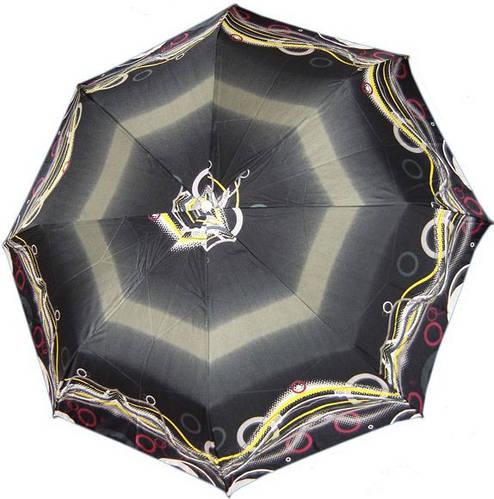 Качественный, женский зонт с ярким узором, полуавтомат, антиветер AIRTON (АЭРТОН) Z3615-29