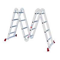 Лестница алюминиевая мультифункциональная трансформер 4*4ступ 475м, LT-0029