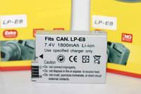 Аккумулятор для фотоаппаратов CANON 550D, 600D, 650D, 700D - LP-E8 (аналог) - 1800 ma
