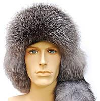 Мужская меховая шапка ушанка из меха блюфроста