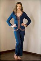 Пижама женская с длинным рукавом Shato 514 (домашний комплект, одежда для дома)