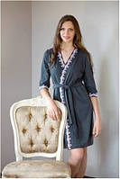 Халат женский Shato - 521 (женская одежда для сна, дома и отдыха, домашняя одежда, ночная)