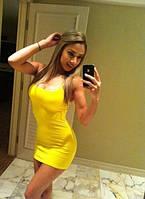 Платье Желтое мини