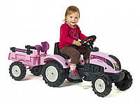 Трактор на педали для девочки Princess