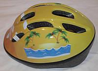 Шлем UNI Защитный Новый, размер детский жёлтый, для роликов, вело и др