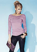 Женская блуза розового цвета с длинным рукавом из вискозной ткани. Модель Indira Zaps.