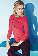 Стильная женская блуза кораллового цвета из мягкой вискозной ткани. Модель Indira Zaps