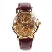 Механические наручные часы с уникальным дизайном patek philippe gold skeleton