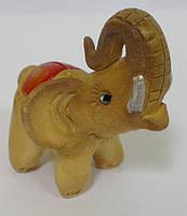"""Слон """"Закрученный хобот"""" из глины, статуэтка  сувенир"""