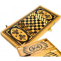 Шахматы, нарды из бамбука B6030-C