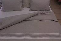 Льняное постельное белье 160х220 полуторное с простыней 180х260 из белого льна