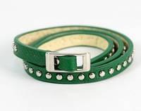 Женский браслет зеленый