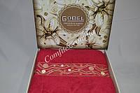 Махровая простынь Gobel Elegant-Red Хлопок (200x220) - Турция
