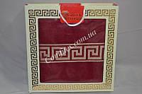 Махровая простынь-плед Gulcan Versace-Red Хлопок (200x220) - Турция