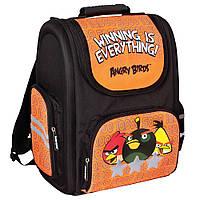 """Ортопедический каркасный ранец черно-оранжевый """"Angry Birds"""" AB03819"""