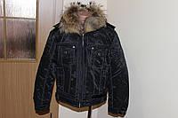 Детская куртка с натур. воротником Зима - осень. Размер 7 - 9 лет