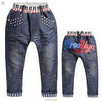 Стильные джинсы котон рост 110-150см для мальчика
