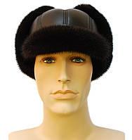 Мячик мужская шапка норковая (черная)
