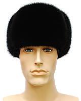 Мужская норковая шапка Обманка (черная)