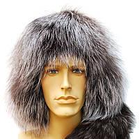 Зимняя шапка ушанка из чернобурки
