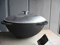 Казан чугунный, азиатский, Ситон, 6 литров, с алюминиевой крышкой. Объем 6 литров.