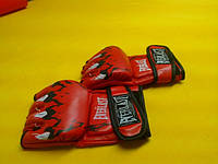 Перчатки для смешанных единоборств MMA EVERLAST  (р-р S, M, L,XL красный)