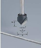 Фреза V-образная HW D18-90GRAD (ALU) пазовая для фрезерования композитных панелей 90 градусов
