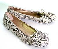 Туфли-балетки женские принт OK-7258