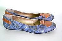 Балетки женские принт джинс OK-7247