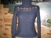 Нарядный свитер темно-синий