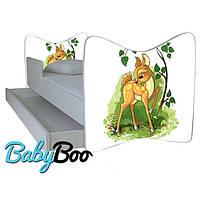 """Детская кровать Junior BABY BOO + ящик + матрас 140 х 70см """"Олененок Бемби"""""""