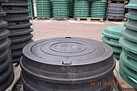 Люк магистральный полимерпесчаный нагрузка 40 т. в черном цвете с замком
