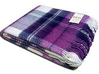 Vladi шерстяной плед Эльф 140х200 фиолетовый в клетку