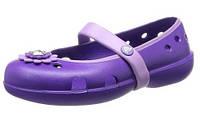 Crocs Kids Keeley Petal Charm Flat Крокс Тапочки для девочки. Оригинал из США