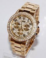 Rolex золотой с кристаллами