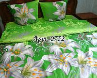 Комплект постельного БЯЗЬ Лилия - купон, ярко-зеленый фон